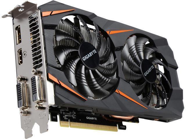 GIGABYTE GeForce GTX 1060 DirectX 12 GV-N1060WF2OC-6GD 6GB 192-Bit GDDR5 PCI Exp