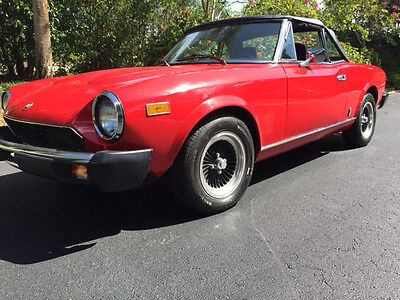 1981 fiat 124 spider convertible 2 door used fiat 124 spider for sale in naples florida. Black Bedroom Furniture Sets. Home Design Ideas