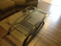 Great glass top coffee table