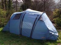 Halfords 4 man tent blue