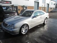 mercedes clk 3.2 automatic 2002 02,reg coupe long mot good condition/runner £1395 px/welcome