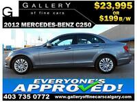 2012 Mercedes C250 4Matic $199 bi-weekly APPLY NOW DRIVE NOW