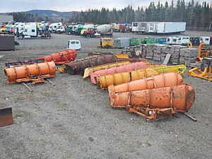 Large selection of plows