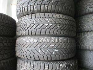 195/65 R15 GOODYEAR ULTRA GRIP ICE WINTER TIRES USED SNOW TIRES (PAIR OF 2 - $110.00) - APPROX. 85% TREAD