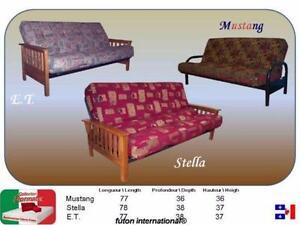 Besoin d'un futon ? Un futon: base en m??tal et matelas 10''