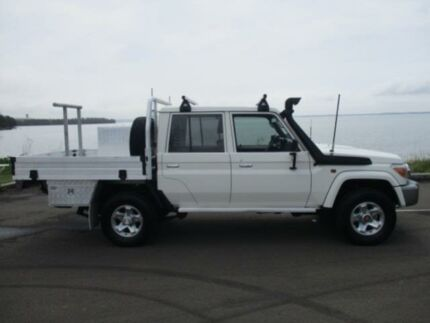 2014 Toyota Landcruiser VDJ79R MY12 Update GXL (4x4) White 5 Speed Manual Double Cab Chassis Dapto Wollongong Area Preview
