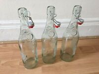 Geyer Freres 3 x 750ml glass bottles with clip top stoppers