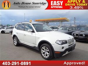 2009 BMW X3 ALL WHEEL DRIVE PANORAMIC SUNROOF LOW KMS