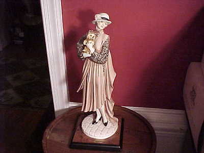 Giuseppe Armani Young Lady With Yorkshire Fine Art Florence Italy Figurine 1998