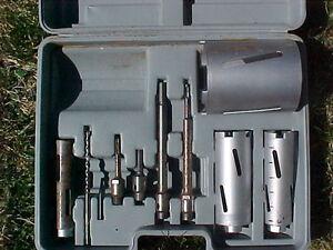 Core drill bit set