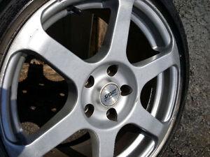"""full set of wheels 17"""" fits many cars 5x114 civics, elantra,"""