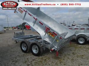 7 ton dump trailer - FULLY GALVANIZED - NO MORE RUST  144'' LONG