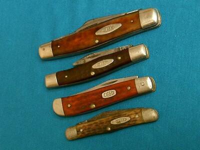 LOT VINTAGE CASE XX KNIVES KNIFE POCKET TESTED WHITTLER 6207 6375 6332 6208 BONE
