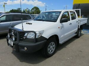 2012 Toyota Hilux KUN26R SR White 5 Speed Manual Dual Cab Reynella Morphett Vale Area Preview