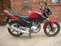 YAHAMA YBR 125 MOTORCYCLE-2013- 11 MONTH MOT. JUST 4760 GENUINE MILES.GOOD RUNNER-ORIGINAL PAINTWORK