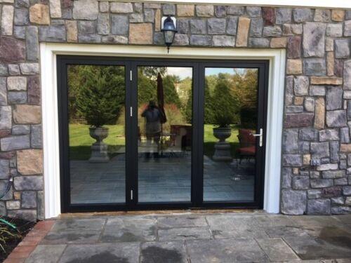 "Eris Bi-fold Doors - Folding patio Door - Size 96"" x 96"""