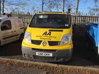Renault Traffic SWB 115 BHP DCI 2011, 1 owner,New Mot,82k miles-Warranted,No Vat