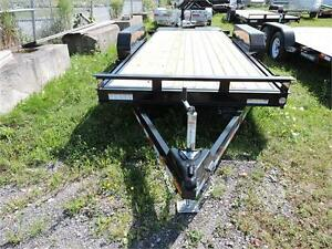 Tilt bed equipment trailer 18' 10k