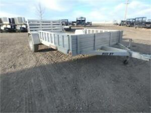 PRE-OWNED -> 7 X 12 ALL ALUMINUM ATV TRAILER W/ RAMPS!