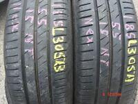 185 55 15 Nexen, Nfera SU4, 82V, x2 A Pair, 6.8mm (450-458 Barking Road,E13 8HJ) Part Worn