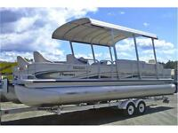 Premier 28' Boundary Water Edition Tritoon, Honda 130 and Traile