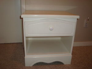 White Solid Wood Night Table