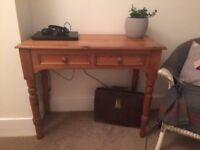 Lovely old pine hall table/desk