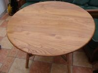 Ercol drop leaf kitchen dining table.