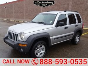 2003 Jeep Liberty 4WD SPORT Accident Free,  Remote Start,   A/C,
