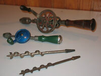 2 vintage eggbeater style hand drills