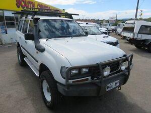 1996 Toyota Landcruiser 80 Series Diesel White 5 Speed Manual Wagon Reynella Morphett Vale Area Preview