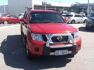 2014 Nissan Navara D40 S6 MY12 ST 4x2 Red 5 Speed Sports Automatic Utility