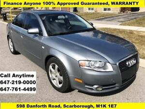 2006 Audi A4 2.0T AWD FINANCE 100% APPROVED GUARANTEED, WARRANTY