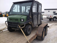 Kawasaki 4 seater 4010 mule ps, cab and heat--open to offers