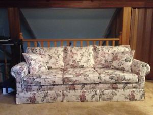 sofa and matching wing chair