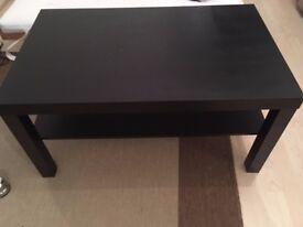 Black MDF coffee table