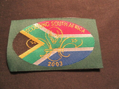 Scouting South Africa 2003 Woven Patch     c77