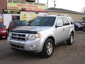 2011 FORD ESCAPE LIMITED 4X4 LEATHER SROOF-100% APPROVED FINANCE Edmonton Edmonton Area image 1