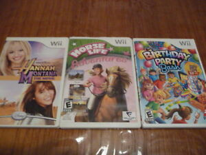 Horse Life Adventures, Pet Vet, B-day Party Bash etc. Wii games