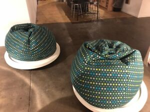 Bean Bag Chairs with solid base x 2