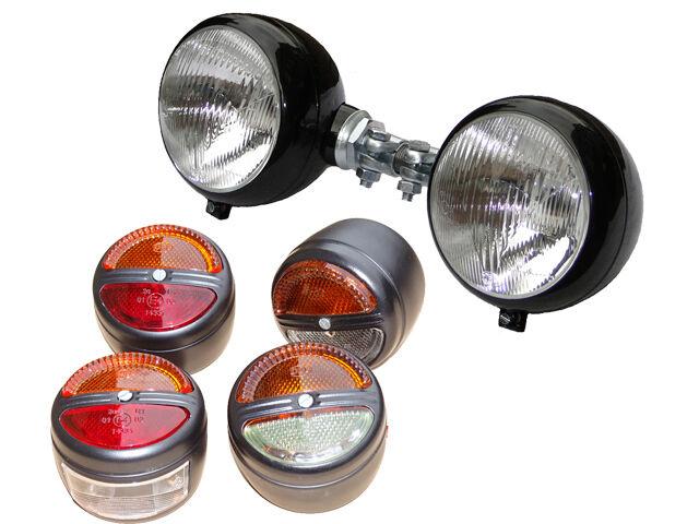 2 Scheinwerfer + 4 Blink- Rück- Positionsleuchten für D15 D25 D30 D40 Traktor Foto 1