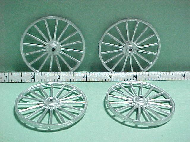 Miniature Wheels Set of Four #WG - Unpainted Metal