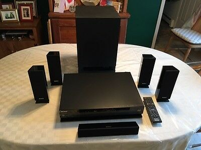 Sony Blu-Ray Surround Sound System - 5 Speakers Sub Woofer Model BDV-E570