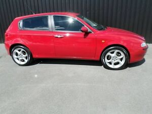 2002 Alfa Romeo 147 Selespeed Red 5 Speed Auto Active Sequential Hatchback Chifley Woden Valley Preview