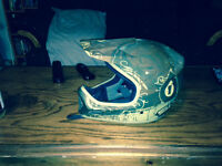 For Sale, bike helmet and goggles