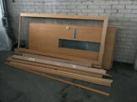 Door, frame & timber (free on collection)