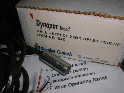 Dynapar Hall Effect Zero Speed Sensor # 54Z (26293-C3)