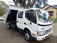 2007 Hino Dutro 816 XZU472R Dual Cab White Tipper 4x2 Homebush West Strathfield Area Preview