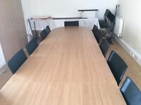 Oak Conference/boardroom table