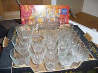 30 various crystal glasses flutes sherry wine etc some new - southbourne